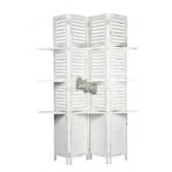 paravent met legplanken wit hoog180 cm