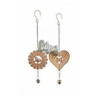 hanger bloem en hart metaal diameter 11 cm op=op