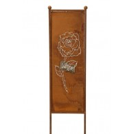 tuin verdeel/decoratie scherm metaal roest roos