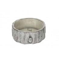 schaal cement boomstam grijs bruin diameter 19.5 cm