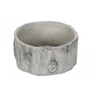 schaal cement boomstam grijs bruin diameter 29.5 cm