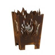 vuurkorf conisch roest hoog 58 cm