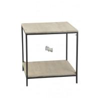tafel hout en metaal 73x73xH76cm