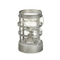 lantaarn met led en timer grijs incl hanger zink