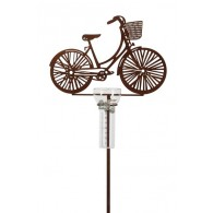 regenmeter fiets dames metaal roest