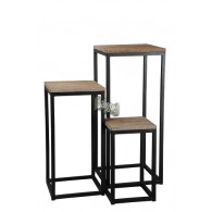 tafel grijs zwart set van 3 stuks hoog