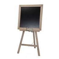 houten schrijfbord staande antiek grijs 60x54xH116cm