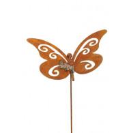 steker vlinder roest 44x34 cm hoog 118 cm
