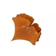 bloembak metaal ginkgo blad hoog 28 cm roest
