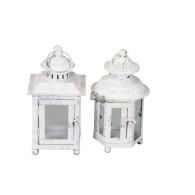 lantaarn metaal wit 2 assortiment design (leverbaar vanaf week 33)