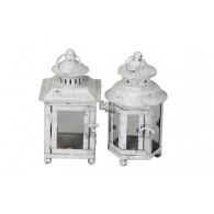 lantaarn metaal licht grijs 2 assortiment design (leverbaar vanaf week 33)
