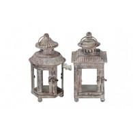 lantaarn metaal grijs 2 assortiment design