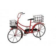 bloembak metaal fiets rood