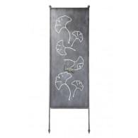 tuin verdeel/decoratie scherm metaal grijs ginkgo blad groot