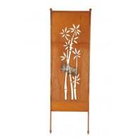 tuin verdeel/decoratie scherm metaal roest bamboe groot