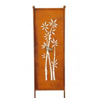 tuin verdeel/decoratie scherm metaal roest bamboe