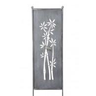 tuin verdeel/decoratie scherm metaal grijs bamboe klein (2021 weer leverbaar)