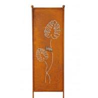 tuin verdeel/decoratie scherm metaal roest blad klein