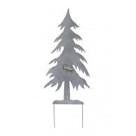 steker dennenboom grijs hoog 118 cm