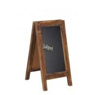 houten schrijfbord staande 2 zijdig 30,5x35xH59cm