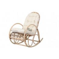 schommel stoel met kussen rotan grijs 58x106xH100cm