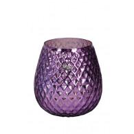 windlicht glas diameter 17 cm lila