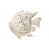 windlicht vis metaal hoog 38 cm