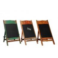 houten schrijfbord staande verschillende kleuren 45x40xH90cm
