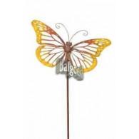 steker vlinder geel oranje 44x25 cm hoog 122 cm op=op