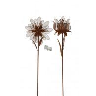 steker bloem en tulp 2 assortiment design metaal roest