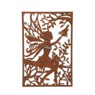 muurdecoratie elf bruin hoog 76 cm