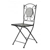 stoel grijs mozaïek 39x37xH89cm