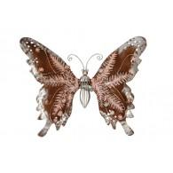 muurdecoratie vlinder roze
