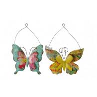 hanger vlinder 2 assortiment kleur bont