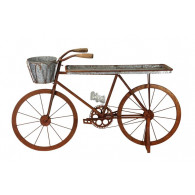 fiets/tafel metaal zink hoog 97 cm