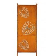 tuin verdeel/decoratie scherm metaal roest 3x blad