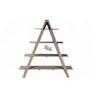 ladder met 4 planken grijs hoog 178 cm