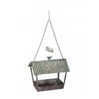 vogel voederhuis hangend 32x22xH27,5cm rood groen