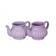 bloempot keramiek koffiekan 2 assortiment kleur