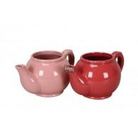 bloempot keramiek koffiekan glad 2 assortiment kleur