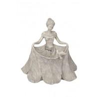 dame met rok hoog 33.5 cm grijs