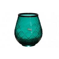 windlicht glas diameter 16 cm petrol
