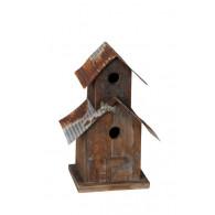 vogelhuis wand dubbel bruin