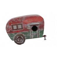 vogelhuis wand caravan rood groen