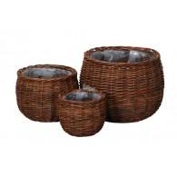mand rotan diameter 20-25 en 33 cm set van 3 stuks naturel