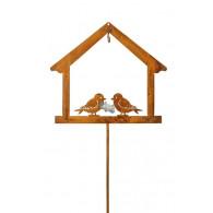 mezenbol steker huis en vogels roest (vanaf week 26 leverbaar)