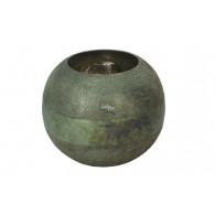 windlicht glas diameter 19 cm petrol