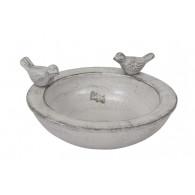 vogelbad terracotta grijs rond 32 cm (vanaf week 24 leverbaar)