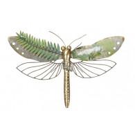 muurdecoratie libelle 61x42.5 cm groen