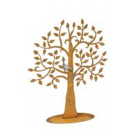 levensboom op plaat roest hoog 60 cm (leverbaar vanaf week 18)